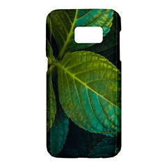 Green Plant Leaf Foliage Nature Samsung Galaxy S7 Hardshell Case  by Nexatart