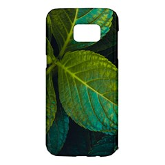 Green Plant Leaf Foliage Nature Samsung Galaxy S7 Edge Hardshell Case by Nexatart