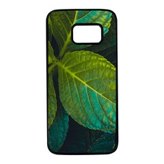 Green Plant Leaf Foliage Nature Samsung Galaxy S7 Black Seamless Case by Nexatart