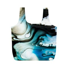 Abstract Painting Background Modern Full Print Recycle Bags (m)