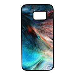 Background Art Abstract Watercolor Samsung Galaxy S7 Black Seamless Case