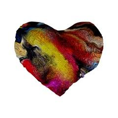 Background Art Abstract Watercolor Standard 16  Premium Heart Shape Cushions by Nexatart