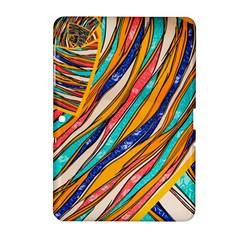 Fabric Texture Color Pattern Samsung Galaxy Tab 2 (10 1 ) P5100 Hardshell Case  by Nexatart