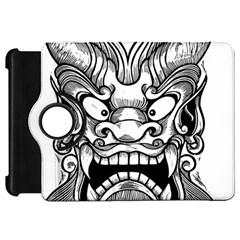 Japanese Onigawara Mask Devil Ghost Face Kindle Fire Hd 7  by Alisyart