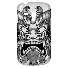 Japanese Onigawara Mask Devil Ghost Face Galaxy S3 Mini by Alisyart