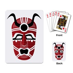 Africa Mask Face Hunter Jungle Devil Playing Card by Alisyart