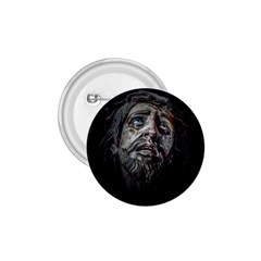 Jesuschrist Face Dark Poster 1 75  Buttons by dflcprints