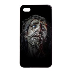 Jesuschrist Face Dark Poster Apple Iphone 4/4s Seamless Case (black) by dflcprints
