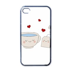 Cute Tea Apple Iphone 4 Case (black) by Valentinaart
