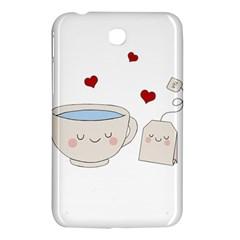 Cute Tea Samsung Galaxy Tab 3 (7 ) P3200 Hardshell Case  by Valentinaart