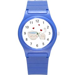 Cute Tea Round Plastic Sport Watch (s) by Valentinaart