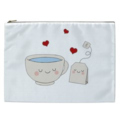 Cute Tea Cosmetic Bag (xxl)  by Valentinaart