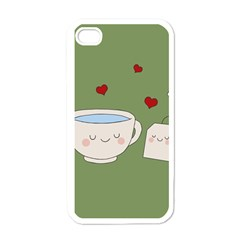Cute Tea Apple Iphone 4 Case (white) by Valentinaart