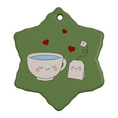 Cute Tea Ornament (snowflake) by Valentinaart