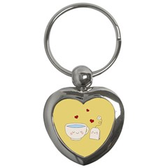Cute Tea Key Chains (heart)  by Valentinaart