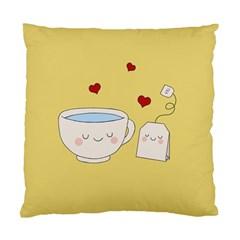 Cute Tea Standard Cushion Case (one Side) by Valentinaart