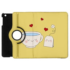 Cute Tea Apple Ipad Mini Flip 360 Case by Valentinaart
