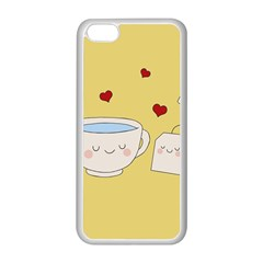 Cute Tea Apple Iphone 5c Seamless Case (white) by Valentinaart