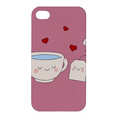 Cute Tea Apple Iphone 4/4s Hardshell Case by Valentinaart