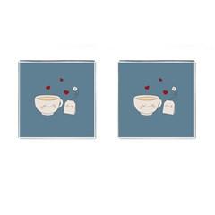 Cute Tea Cufflinks (square) by Valentinaart