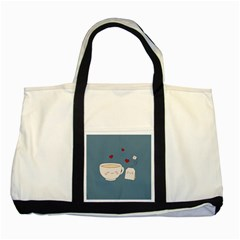 Cute Tea Two Tone Tote Bag by Valentinaart
