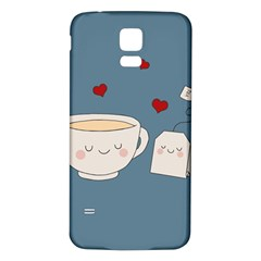 Cute Tea Samsung Galaxy S5 Back Case (white) by Valentinaart
