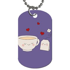 Cute Tea Dog Tag (two Sides) by Valentinaart