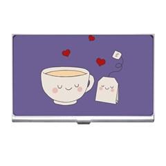 Cute Tea Business Card Holders by Valentinaart