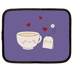Cute Tea Netbook Case (xl)  by Valentinaart