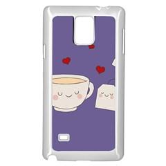 Cute Tea Samsung Galaxy Note 4 Case (white) by Valentinaart