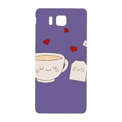 Cute Tea Samsung Galaxy Alpha Hardshell Back Case by Valentinaart