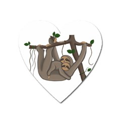 Cute Sloth Heart Magnet by Valentinaart