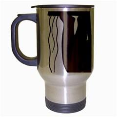 Cute Sloth Travel Mug (silver Gray) by Valentinaart