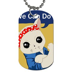 Feminist Cat Dog Tag (one Side) by Valentinaart
