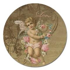 Cupid   Vintage Magnet 5  (round) by Valentinaart