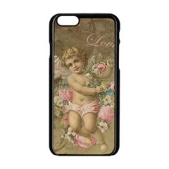Cupid   Vintage Apple Iphone 6/6s Black Enamel Case by Valentinaart