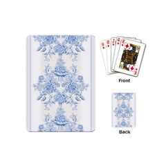 Beautiful,pale Blue,floral,shabby Chic,pattern Playing Cards (mini)  by 8fugoso