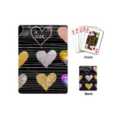 Modern Heart Pattern Playing Cards (mini)  by 8fugoso