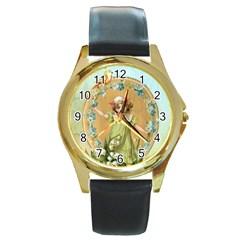 Vintage 1225895 1280 Round Gold Metal Watch by vintage2030