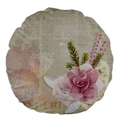 Scrapbook 1133667 1920 Large 18  Premium Flano Round Cushions by vintage2030