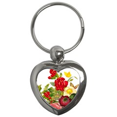 Flower Bouquet 1131891 1920 Key Chains (heart)  by vintage2030