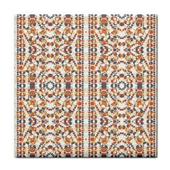 Multicolored Geometric Pattern  Tile Coasters by dflcprints