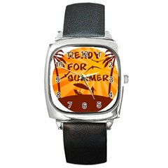 Ready For Summer Square Metal Watch by Melcu