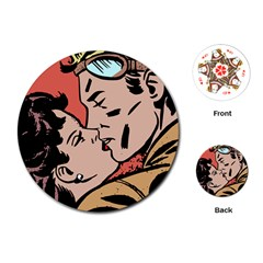 Retrocouplekissing Playing Cards (round)  by vintage2030