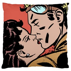 Retrocouplekissing Large Cushion Case (one Side) by vintage2030