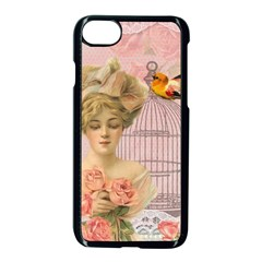 Woman 1079479 1920 Apple Iphone 8 Seamless Case (black) by vintage2030