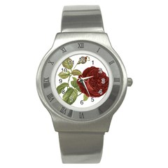 Rose 1077964 1280 Stainless Steel Watch by vintage2030