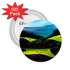 Morning Mist 2 25  Buttons (100 Pack)  by ValleyDreams