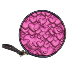 Shimmering Hearts Pink Classic 20 Cd Wallets by MoreColorsinLife