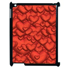 Shimmering Hearts Deep Red Apple Ipad 2 Case (black) by MoreColorsinLife